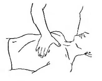 Прямолинейное поглаживание грудной мышцы