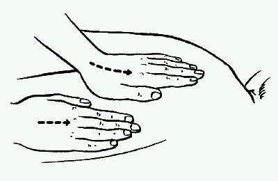 Плоскостное поглаживание