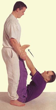 Подъем с выпрямленными ногами