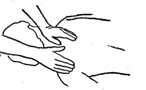 Вращение больших пальцев у основания шеи
