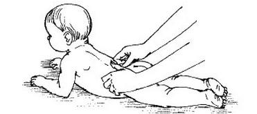 растирание тыльной стороной пальцев