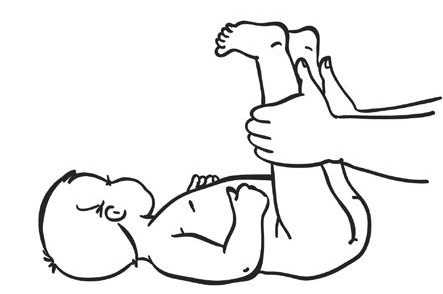 Поднятие за выпрямленные ног
