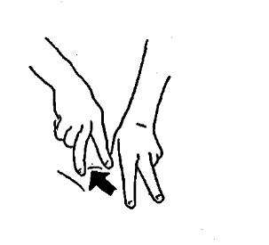 Растирание кончиками пальцев