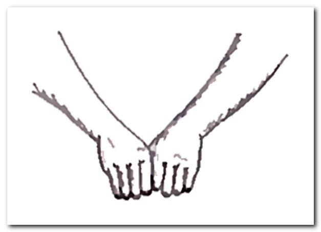 Растирание фалангами пальцев