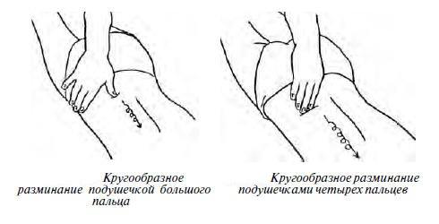 разминание длиных мышц спины